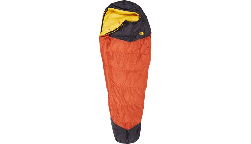 The North Face Gold Kazoo Sleeping Bag Long Orange Rust/Asphalt